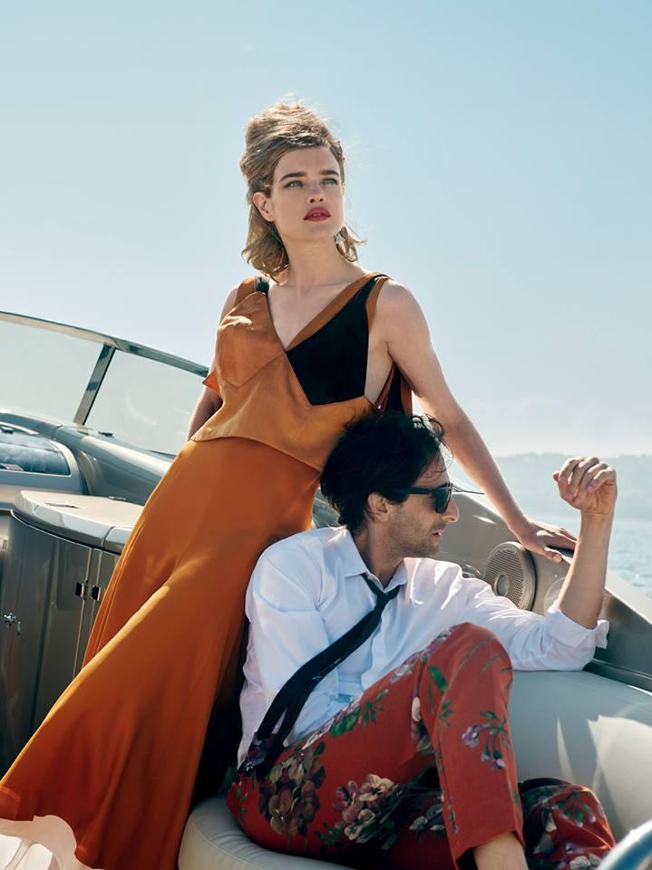 Natalia Vodianova yAdrian Brody para Vogue US. Fotos por Peter Lindbergh.